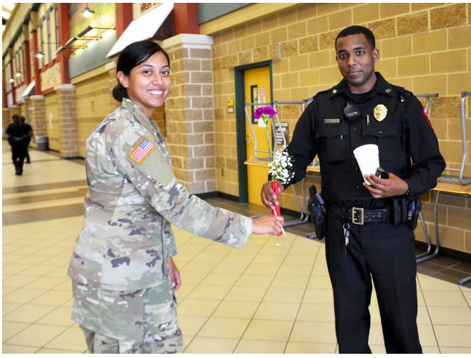 Meadows Place Police Department Engaging Students at George